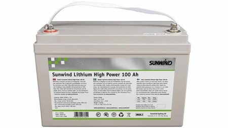 Sunwind Lithium High Power 100At med Bluetooth